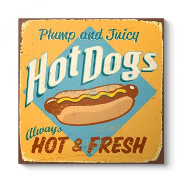 Vintage Hot Dogs Tablosu