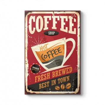 Vintage Kahve Posteri Tablosu