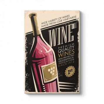 Vintage Şarap Tablosu