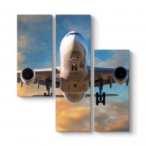 Beyaz Yolcu Uçağı Kanvas Tablo