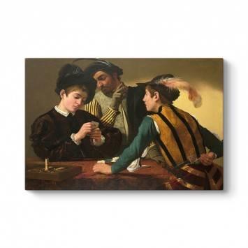 Caravaggio - Hilekarlar Kanvas Tablo