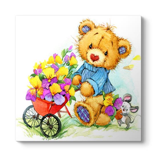 Çiçek Toplayan Ayıcık Tablosu