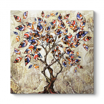 Dekoratif Ağaç ve Yapraklar
