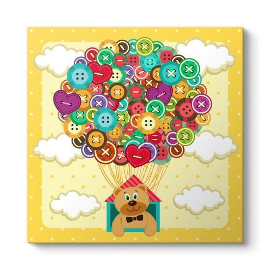 Düğmeli Balon ve Ayıcık Tablosu