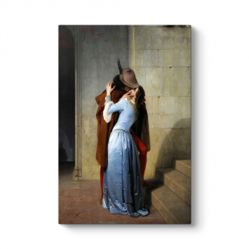 Francesco Hayez - Öpücük Kanvas Tablo