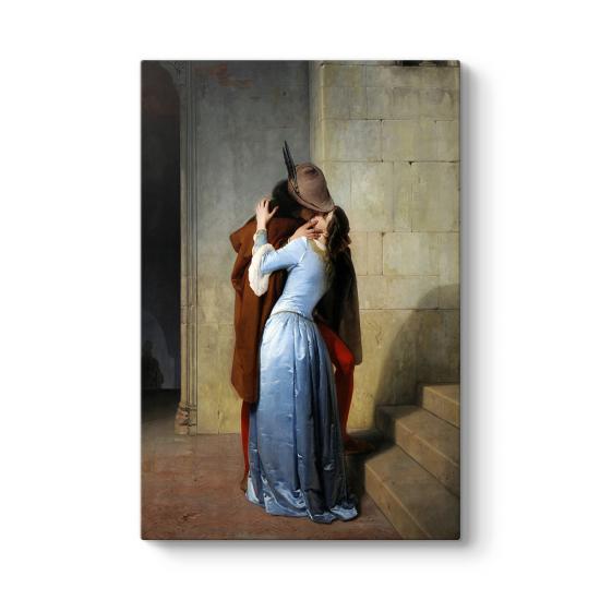 Francesco Hayez - Öpücük Kanvas Tablo