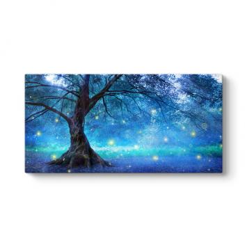 Gizemli Peri Ağacı Kanvas Tablo