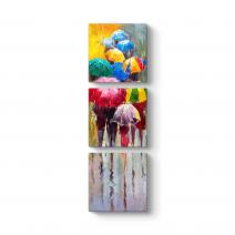Gökkuşağı Renkli Şemsiyeler