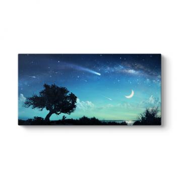Kayan Yıldızlar Kanvas Tablo