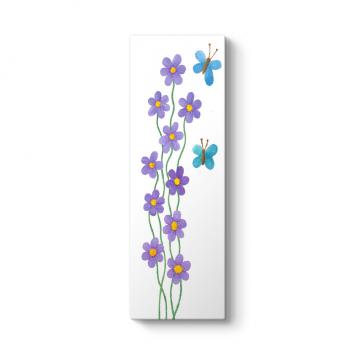 Mor Çiçekler Tablosu