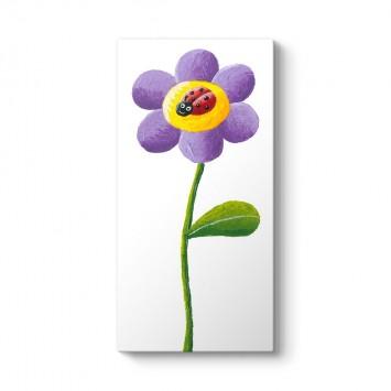 Mor Çiçekte Uğur Böceği Tablosu