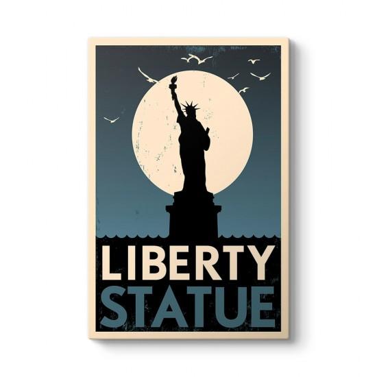 Özgürlük Heykeli Kanvas Tablosu