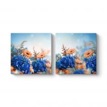 Papatya ve Ortanca Çiçeği Tablosu