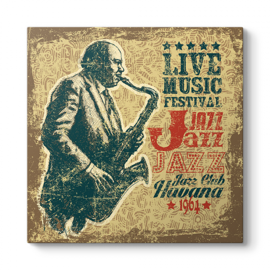 Retro Tasarım Jazz Müzik Tablosu