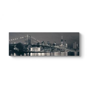 Siyah Beyaz Brooklyn Köprüsü