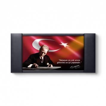Atatürk Makam Panosu - Vatanını En Çok Seven Görevini En iyi Yapandır