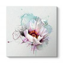 Vektörel Beyaz Çiçek Tablosu
