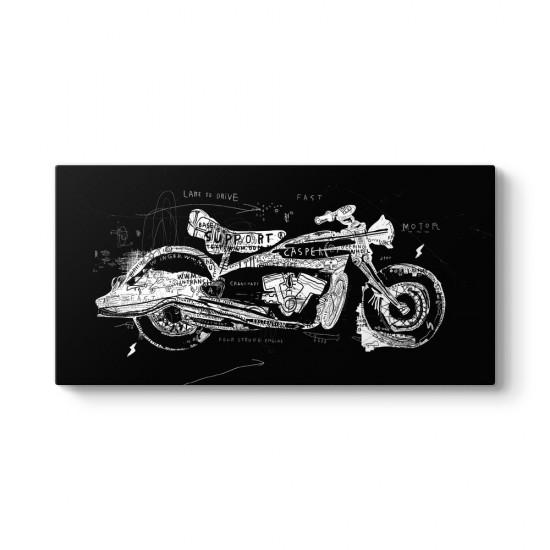 Vektörel Motosiklet Çizim Tablosu