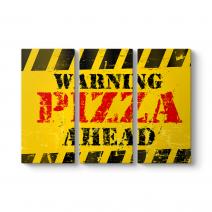 Vektörel Pizza Tabela Tablosu