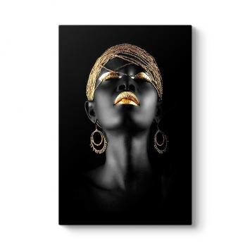 Afrikalı Kadın Kanvas Tablo