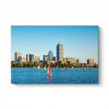 Boston Şehir Silüeti Kanvas Tablo