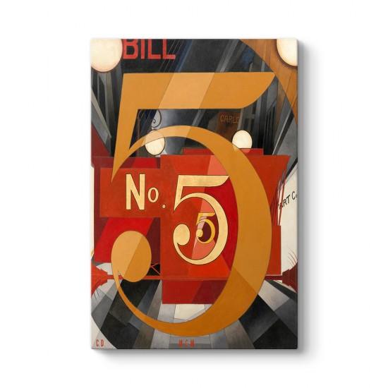 Charles Demuth - No 5 Kanvas Tablo