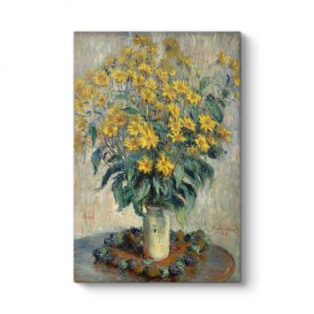 Claude Monet - Kudüs Enginar Çiçekleri Tablosu