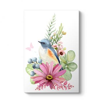 Dekoratif Tasarım Kuş Tablosu