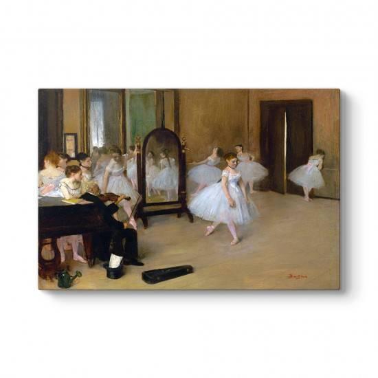 Edgar Degas - Dans Sınıfı Kanvas Tablo
