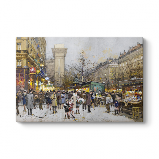 Eugene Galien Laloue - Paris Kanvas Tablo