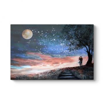 Fantastik Gece Kanvas Tablo