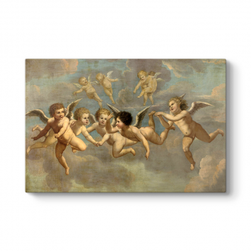 Five Flying Putti 1650 Kanvas Tablo