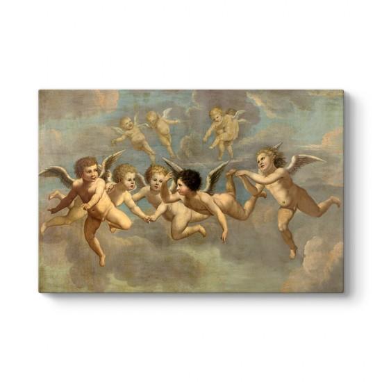 Five Flying Putti 1650 Kanvas Tablo