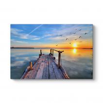 Göl Kenarı Kanvas Tablo