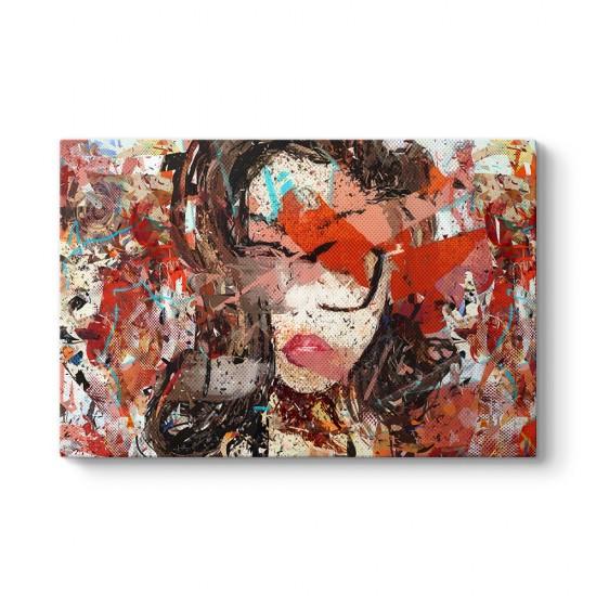 Gözlüklü Kadın Yüzü Kanvas Tablo
