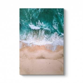 Havadan Deniz Kıyısı Kanvas Tablo