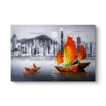 Hong Kong Gemi Kanvas Tablo