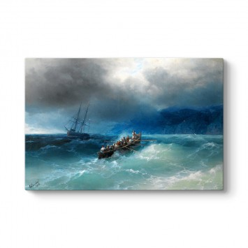 Ivan Aivazovsky - Karadeniz Üzerinde Fırtına Tablosu