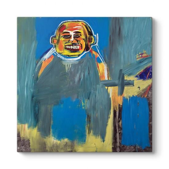 Jean-Michel Basquiat - Buda Kuşu Kanvas Tablo