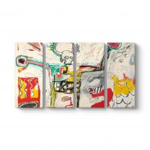 Jean-Michel Basquiat - Untitled 1982 Tablosu