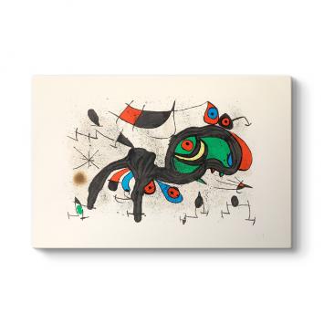 Joan Miro - Le Belier Fleuri Kanvas Tablo