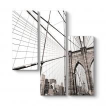Köprü Halatları Kanvas Tablo