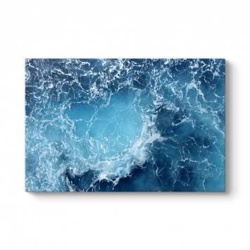 Mavi Atlantik Okyanusu Kanvas Tablo