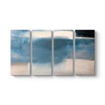 Mavi Beyaz Krem Soyut Kanvas Tablo