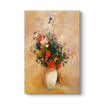 Odilon Redon - Çiçek Vazosu Kanvas Tablo