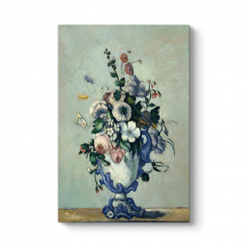Paul Cezanne - Vazoda Çiçekler Tablosu