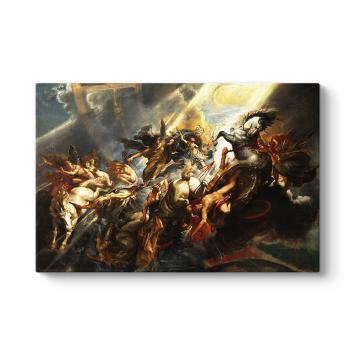 Peter Paul Rubens - Phaeton'un Düşüşü Tablosu
