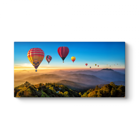 Renkli Sıcak Hava Balonları