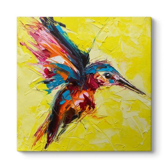 Yağlıboya Sinek Kuşu Kanvas Tablo