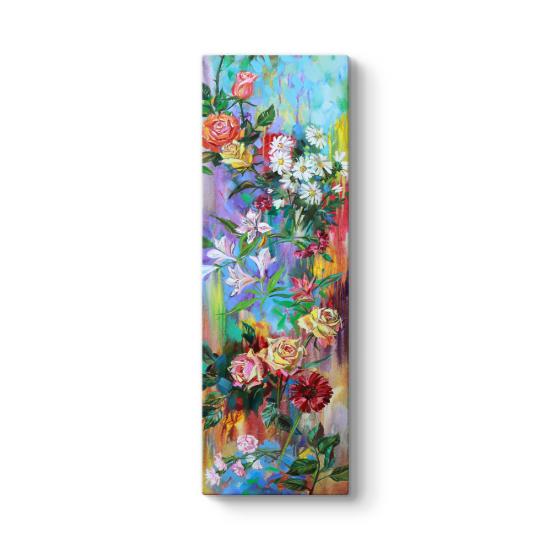 Renkli Çiçekler Sarmalı Tablosu